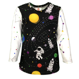 Space Explorer - Rocket Ship to the Moon - Astronaut & Space Long Sleeve T-Shirt