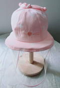 Baby Hat With Detachable Anti-Fog Shield - I Heart Pink - SHIPS SAME DAY!