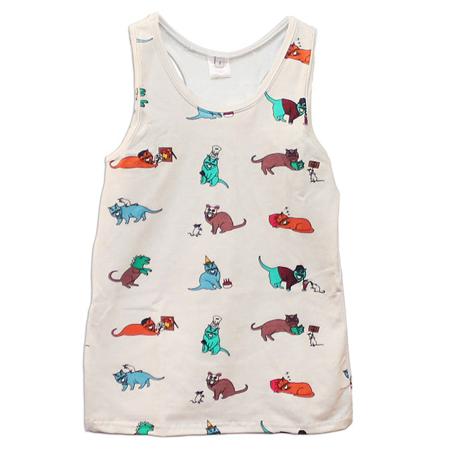 The 9 Lives of Jeffrey Cat Adult Tank Top