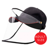 Adults Baseball Cap With Detachable Anti-Fog Shield - Black - SHIPS SAME DAY!