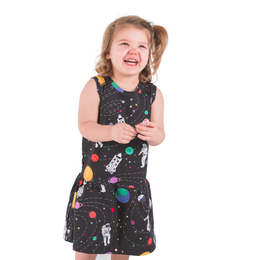 Space Explorer - Rocket Ship to the Moon - Astronaut & Space Sleeveless Dress
