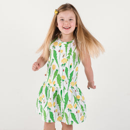 Bumble Rumble - Dandelion, Bee and Ladybug Dress - Short Sleeve