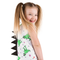 Cute and Fierce White T-Rex Kids Dinosaur Dress with Black Spikes