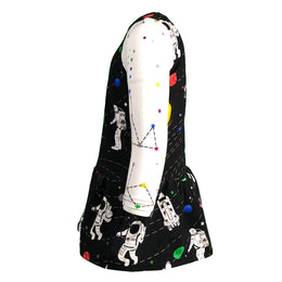 Space Explorer - Rocket Ship to the Moon - Astronaut & Space Long Sleeve Dress