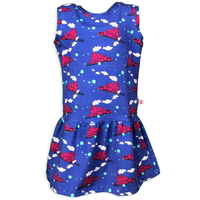 Pink and Blue Steam Engine Train Dress