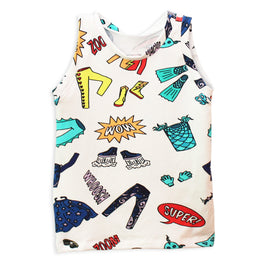 Gender-Neutral Superheroes Kids Tank Top