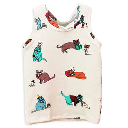 The 9 Lives of Jeffrey Cat Kids Tank Top