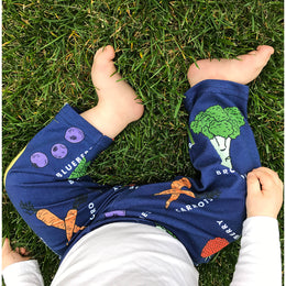 Fruit & Veggies Leggings with Fun Educational Vegetables and Fruits