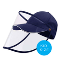 Kids Baseball Cap With Detachable Shield - Navy Blue - SHIPS SAME DAY!
