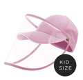 Kids Baseball Cap With Detachable Shield -  Pink Is Love - SHIPS SAME DAY!