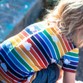 T-Shirt - Retro Rainbow T-Shirt With Clouds