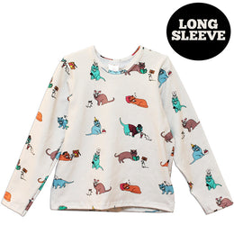 The 9 Lives of Jeffrey Cat T-shirt - Long Sleeve