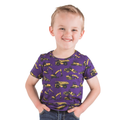 Purple Construction Truck T-Shirt