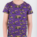 Purple Construction Trucks Short Sleeve T-shirt