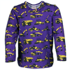 Purple Construction Trucks Long Sleeve T-Shirt