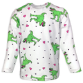 Must Love Dinosaurs Children's Long Sleeve T-Shirt with Spikes