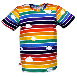 Retro Rainbow T-Shirt with Clouds