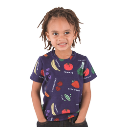 Fruit & Veggies T-Shirt with Fun Educational Vegetables and Fruits
