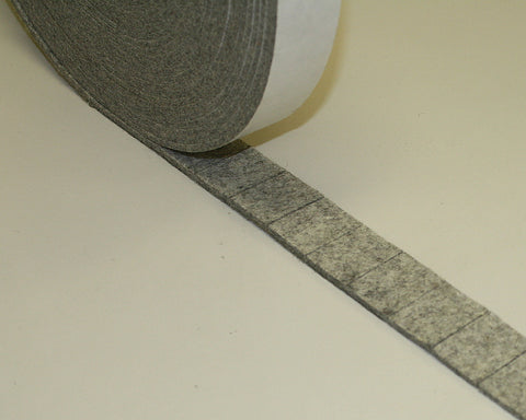 "Clearance- PS Adhesive Industrial Felt Pads- 1"" x 1 1/4"" x 1/8""- F-3/100 pieces"