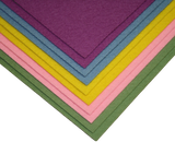 "9"" x 12"" wool craft felt sheets pastels"