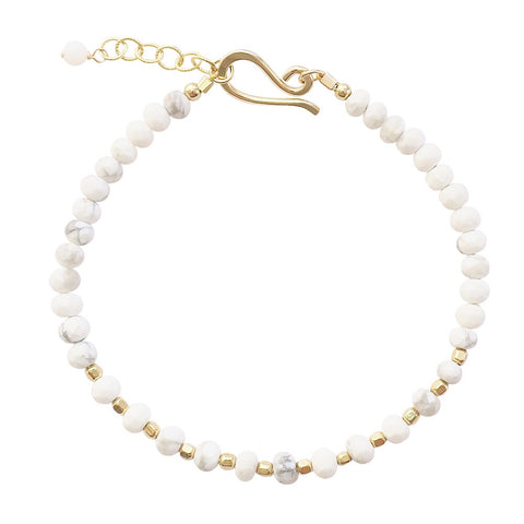 Double Drop Necklace in White Jade