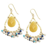 Chandelier Earrings in Yellow Jade