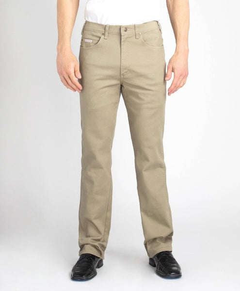 Grand River Khaki Stretch Denim - Waist 36 - 68