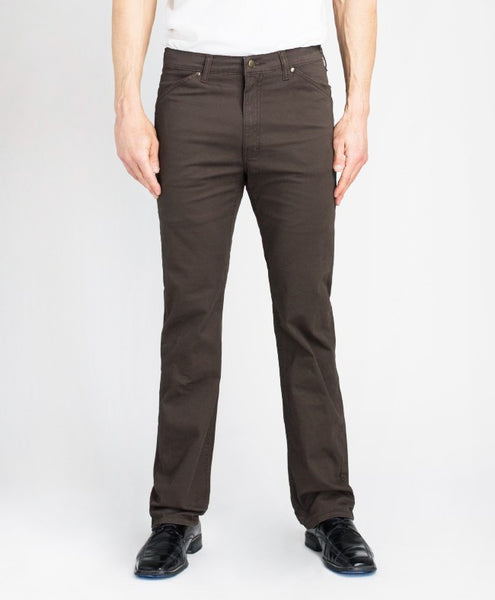 Grand River Lightweight Stretch Twill Pant - Brown - Waist 36 - 56