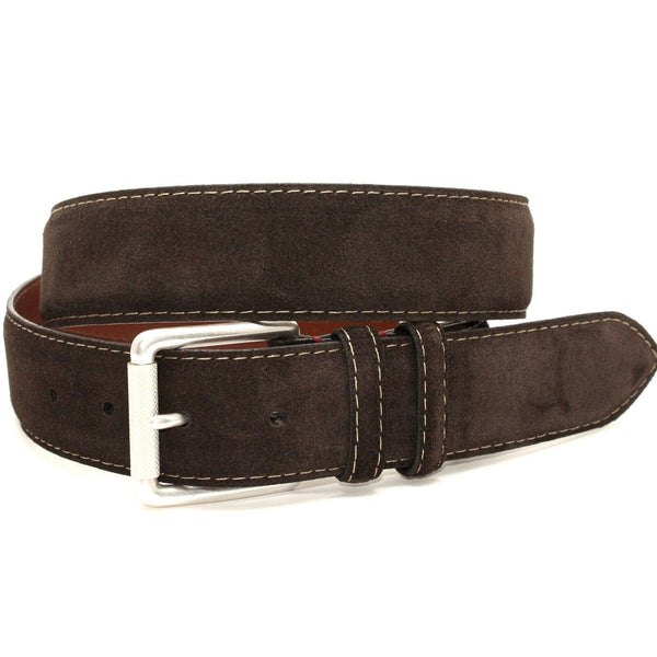 Torino European Sueded Calfskin Belt