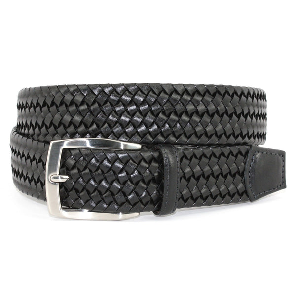 Torino Italian Woven Stretch Leather Belt