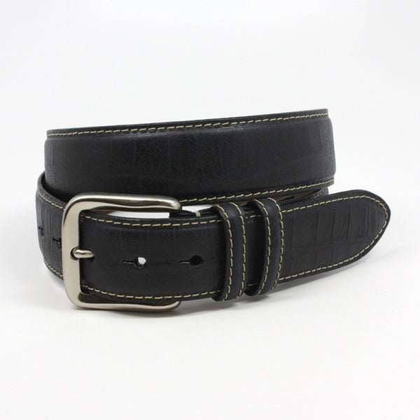 Torino Italian Alligator Embossed Calfskin Belt