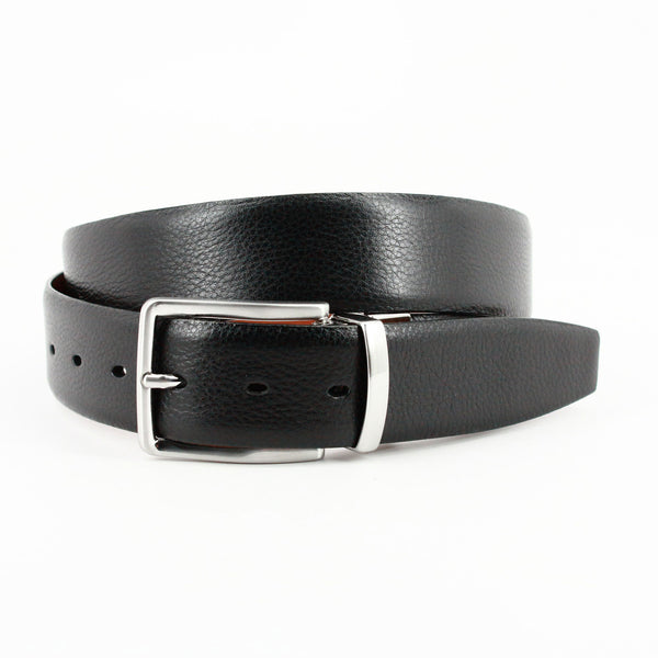 Torino Italian Glazed Milled Calfskin Reversible Belt