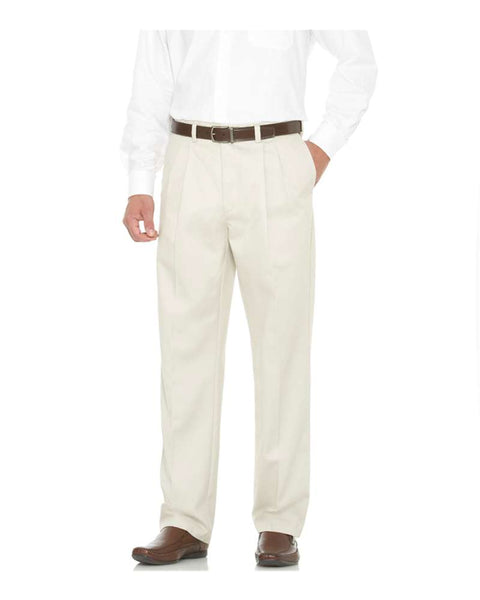 Savane Men's  Pleated Performance Chinos - TALL