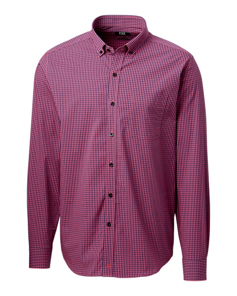 Cutter & Buck Anchor Gingham Shirt (Long Sleeve)