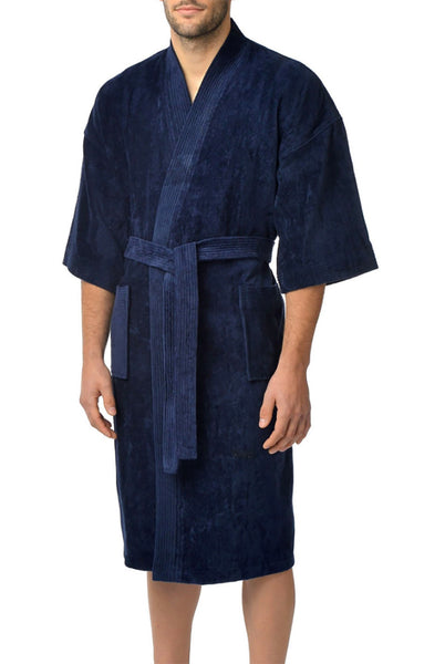 Majestic International Basic Terry Velour Kimono