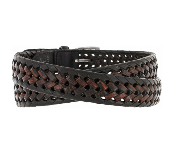 Brighton Two-Tone Burma Laced Leather Belt
