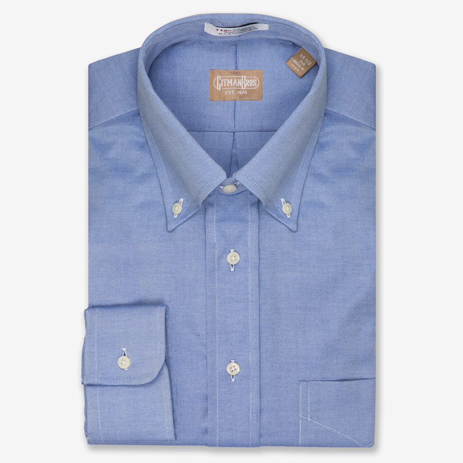Gitman bros pinpoint button down tall austin 39 s big and tall for Pinpoint button down dress shirt