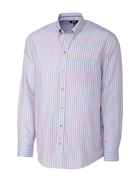 Cutter & Buck Cypress Wrinkle Free Stripe (Long Sleeve)