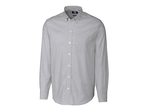 Cutter & Buck Epic Easy Care Stretch Oxford Stripe (Long Sleeve)