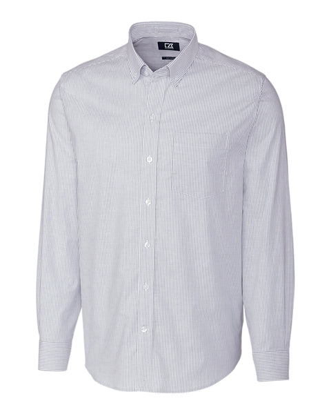 Cutter & Buck Stretch Oxford Stripe (Long Sleeve)
