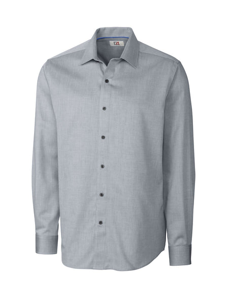 Cutter & Buck Epic Easy Care Mini Herringbone (Long Sleeve)