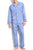 Majestic International Cotton Long Sleeve Pajama Blue