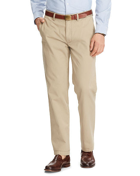 Ralph Lauren Classic Fit Flat-Front Pants - Big