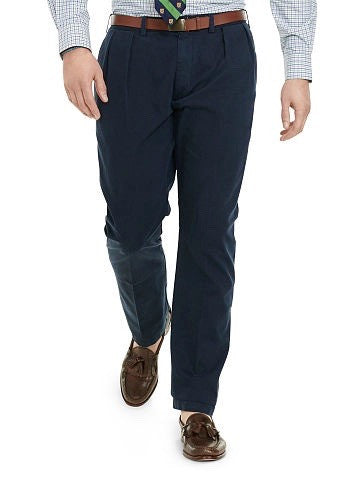 Ralph Lauren Classic Fit Pleated-Front Pants - Tall