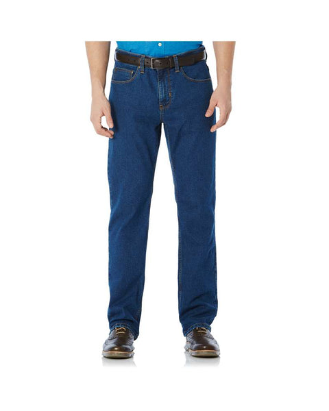 Savane Active Flex Straight Fit Denim Jeans - Medium Stonewash