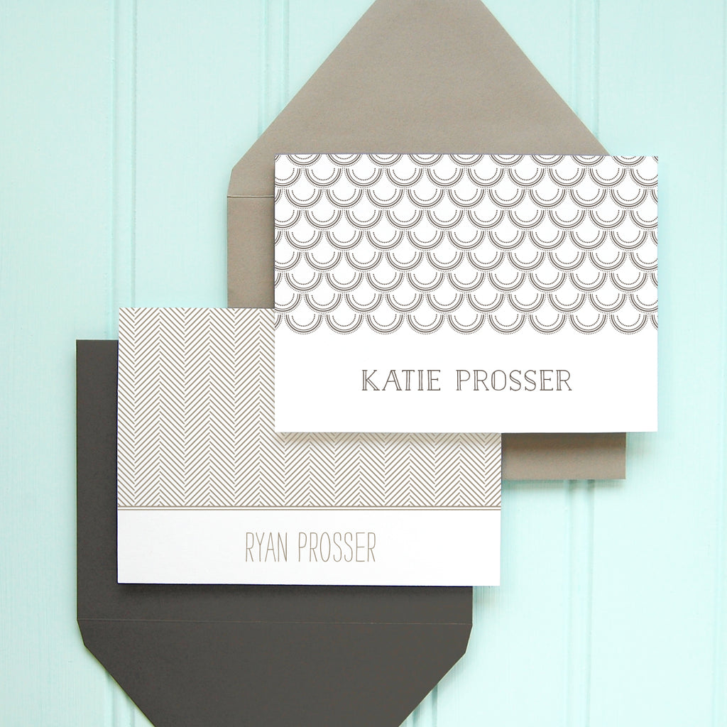 His and Hers Personalized Stationery