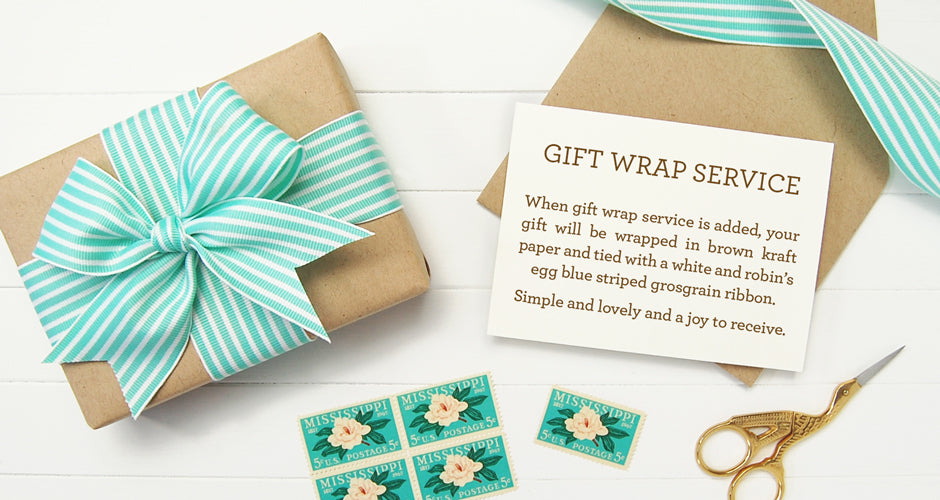 Silhouette Blue Signature Gift Wrap Service