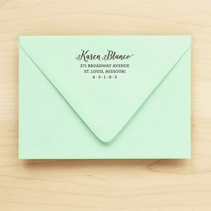 Grace Personalized Return Address Stamp