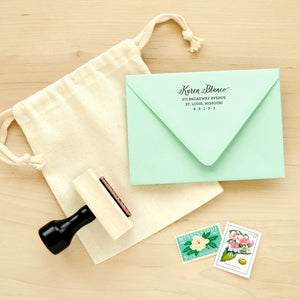 Custom Grace Return Address Stamp