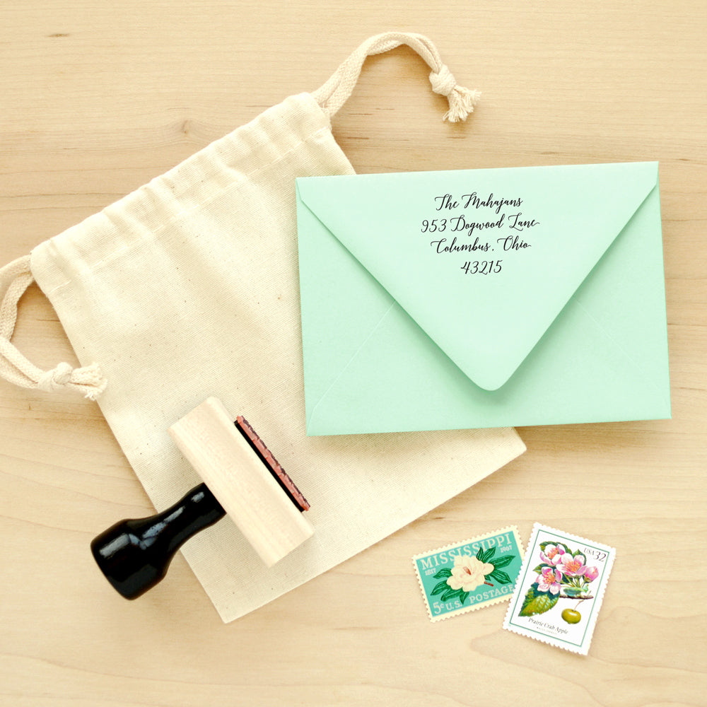 Custom Manuscript Return Address Stamp